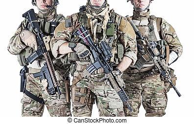 州, レンジャーズ, 合併した, 軍隊