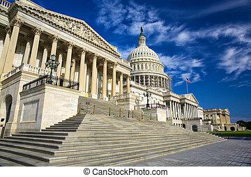 州, 合併した, 国会議事堂