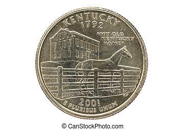州, 四分の一, ケンタッキー, コイン