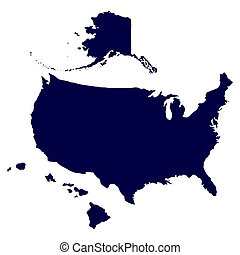 州, 地図, 合併した, アメリカ