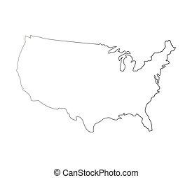 州, 地図, 合併した