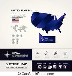 州, 地図, 合併した, ベクトル