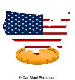 州, 地図, 形, 合併した, 旗