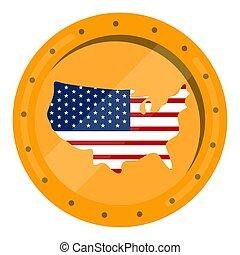州, 地図, 旗, 合併した