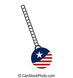 州, 旗, ボール, 合併した, 破壊