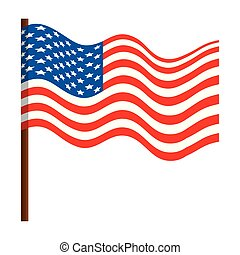 州, 旗, 合併した, アメリカ