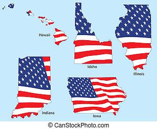 州, 旗, 5