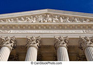 州, 柱, 最高, 合併した, 法廷