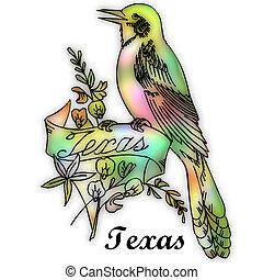 州, 鳥, テキサス