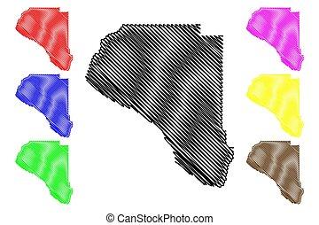 州, taylor, 郡, (u.s., us), 地図, アメリカ, 合併した, アメリカ, 落書き, u.。s...