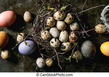 巣, 卵, イースター, ウズラ