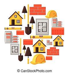 工业, 对象, 住房, 建设, 设计, 背景