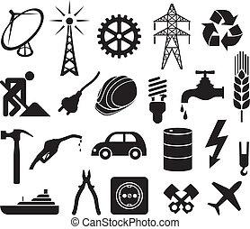 工业, 收集, 图标