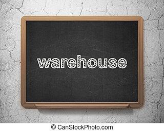 工业, concept:, 仓库, 在上, 黑板, 背景