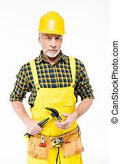 工人, 努力, 帽子