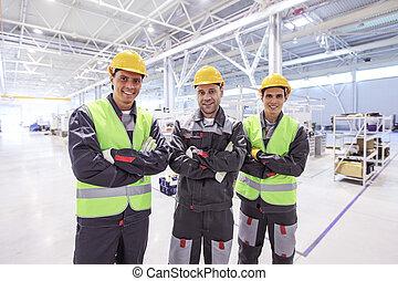 工人, 在, 工廠