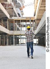 工人, 建設, 努力, 站點