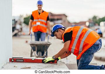 工人, 建設, 手冊, 站點