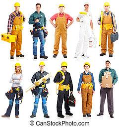 工人, 承包商, 人们