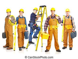 工人, 承包商, 人們