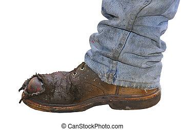 工人, 靴子