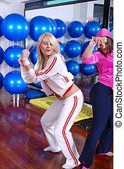 工作室, 健身, 女孩, 跳舞