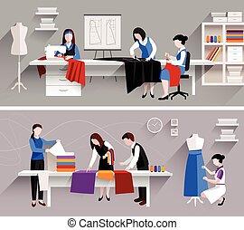 工作室, 縫紉, 設計, 樣板