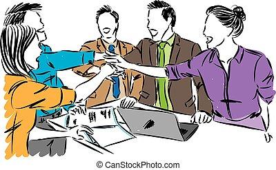 工作組, 概念, 插圖, 矢量, 工人