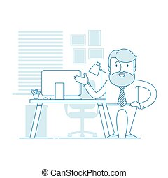工作, 人, 舒適, 你, 辦公室。, 現代, 邀請