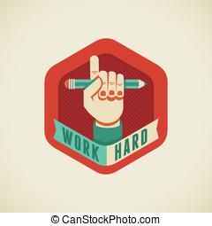 工作, 努力