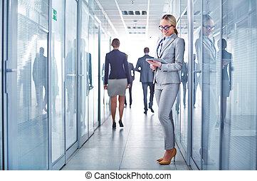 工作, 在, 走廊