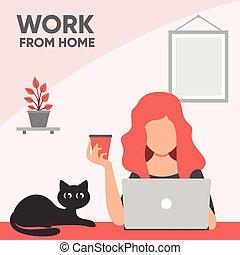 工作, 家