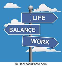 工作, 平衡, 生活