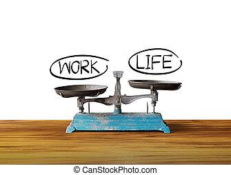 工作, 平衡, 生活, 概念, 规模