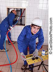 工作, 水管工