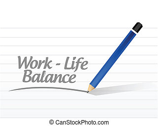 工作, 生活, 平衡, 消息