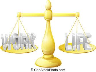 工作, 生活, 平衡, 規模