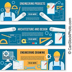 工作, 矢量, 设计, 内部, 家, 旗帜, 工具