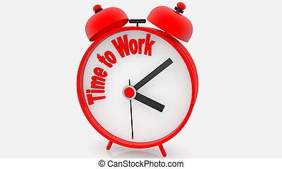 工作, 警報, 時間鐘, 概念