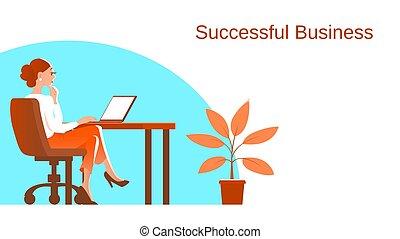 工作, process., 商業描述, 婦女