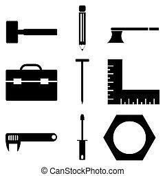 工具, 图标, 放置