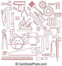 工具, 圖案