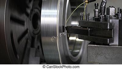 工具, 金屬, 工廠, 機器, 操練, 機器, cnc