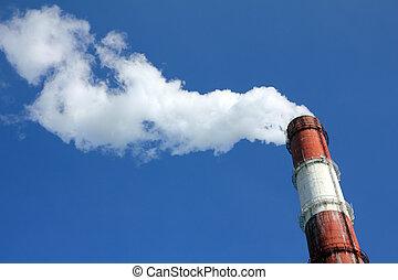 工厂烟囱, 带, 烟