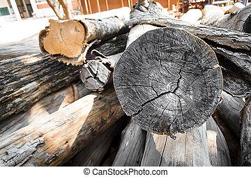 工場, 材木
