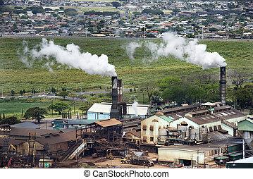 工場, smokestacks.