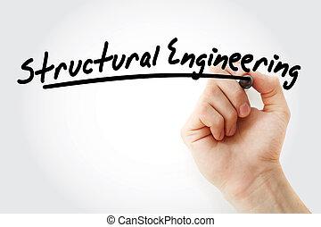 工学, マーカー, 構造, 執筆, 手