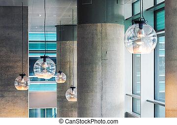 工業デザイン, 内部, ∥で∥, 具体的な柱, そして, 天井ライト