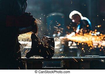 工業労働者, 工場