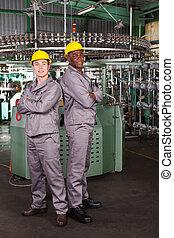 工業的工人, 二, 長度, 充分, 肖像